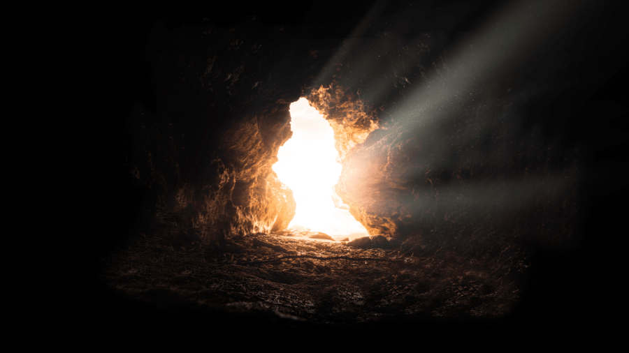 Cave With Light Shining In