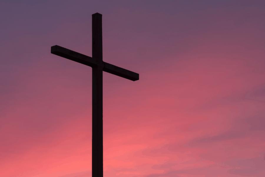 Cross At Dusk Or Dawn