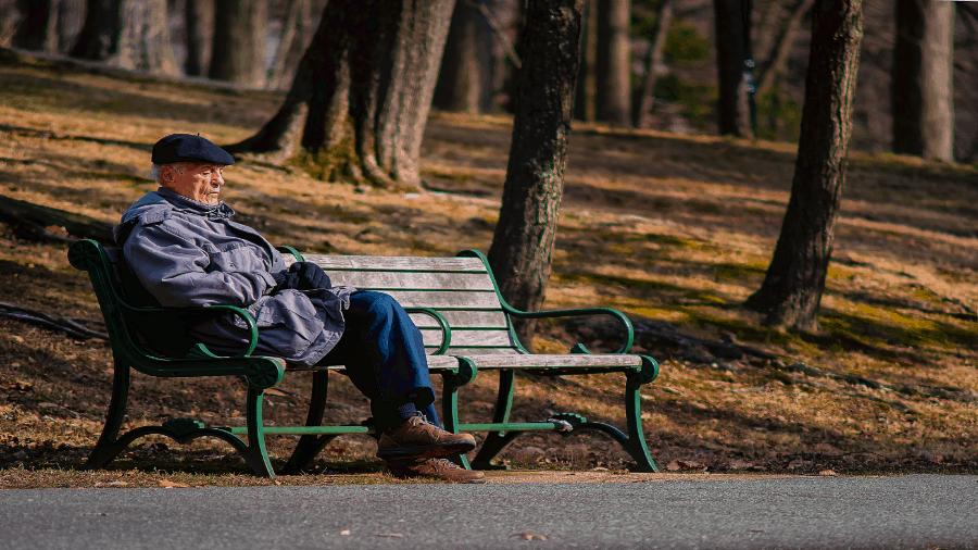 Man Resting On Park Bench 900x506