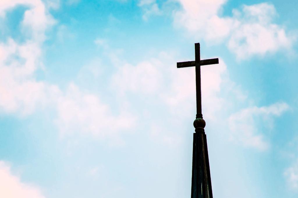 Church Building Cross Blue Sky 1200x800