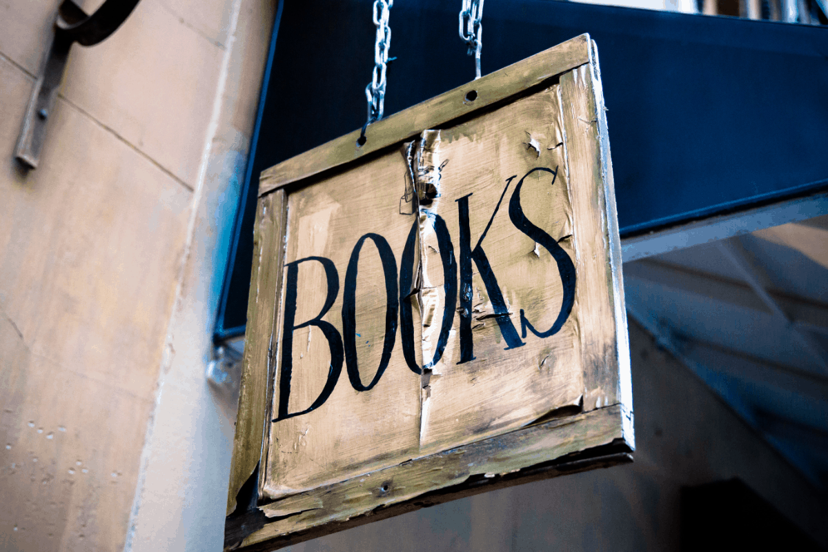 Books Old Sign 1200x800